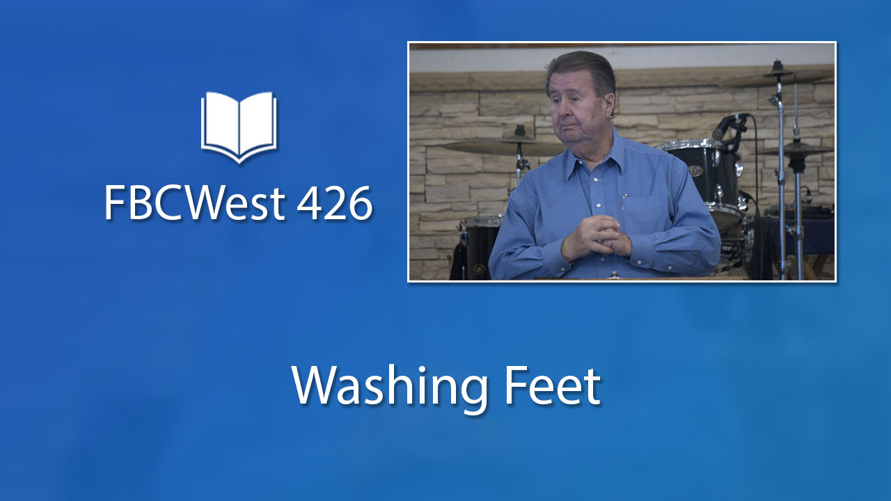426 FBCWest | Washing Feet photo poster